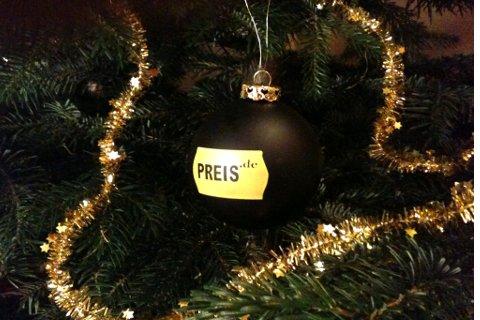 Preisbewertung.Weihnachten