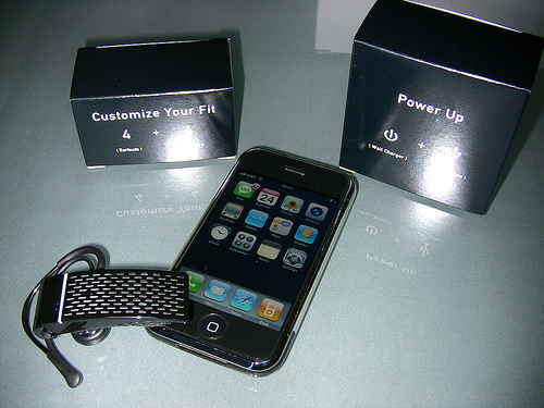 Smartphone mit Headset
