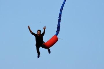 Bungee Jump als Männergeschenk