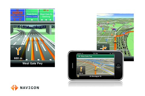 NAVIGON iPhone Traffic Live